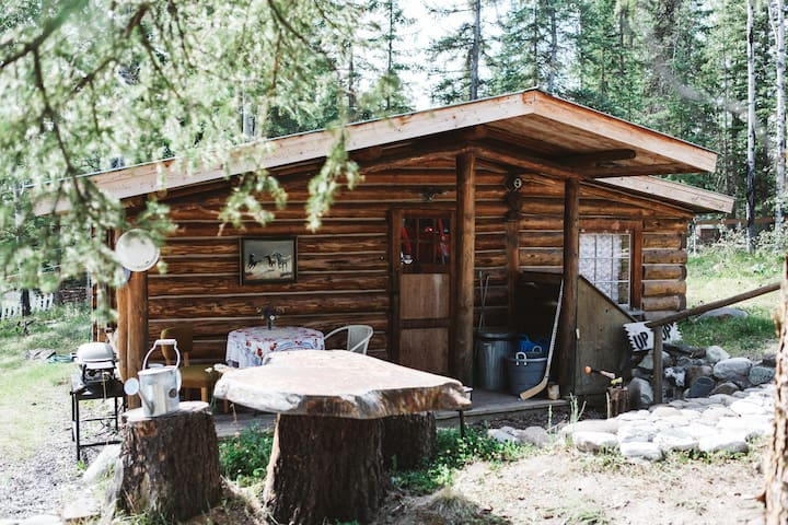 Cozy cariboo log cabin retreat on watch lake cottages for Log cabin retreat