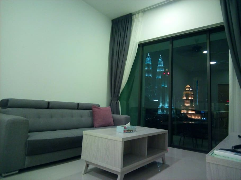 Balcony with fantastic KLCC & KL Tower view