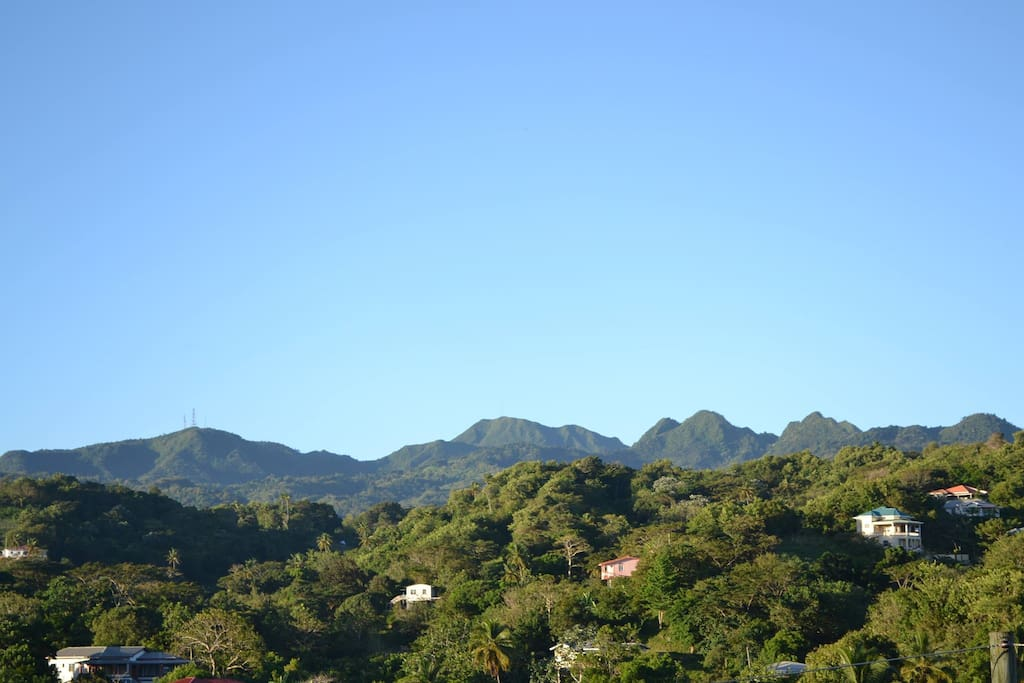 The view of the mountain range from accomodation