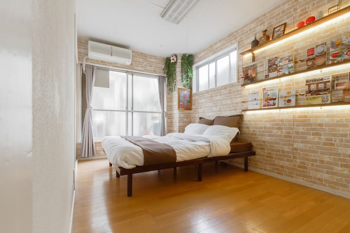 5 min walk to Deer Park: Comfy two rooms for 6ppl - 奈良市 - อพาร์ทเมนท์