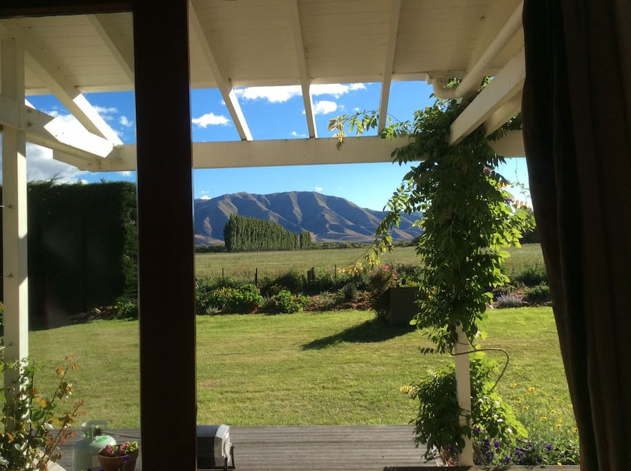From veranda and living room to the north