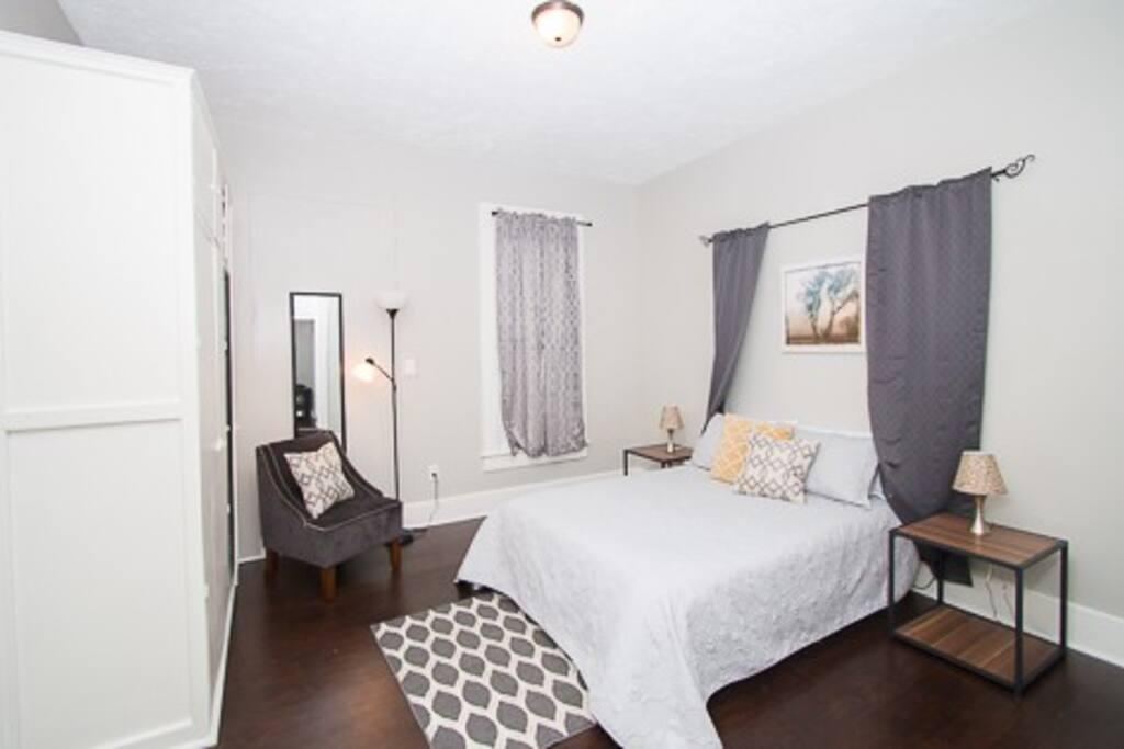 Bedroom #2 - spacious with queen memory foam mattress