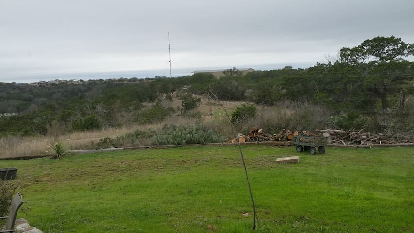 Pool with view of Kerrville on 18 acres