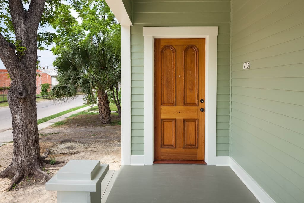 The front door dates abck to 1850 and was painstakingly restored.