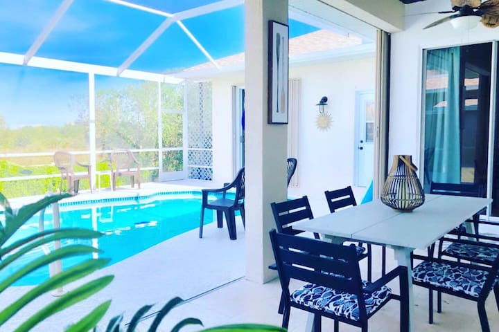 Perfectly Comfortable Home steps to BEACH w/ POOL!