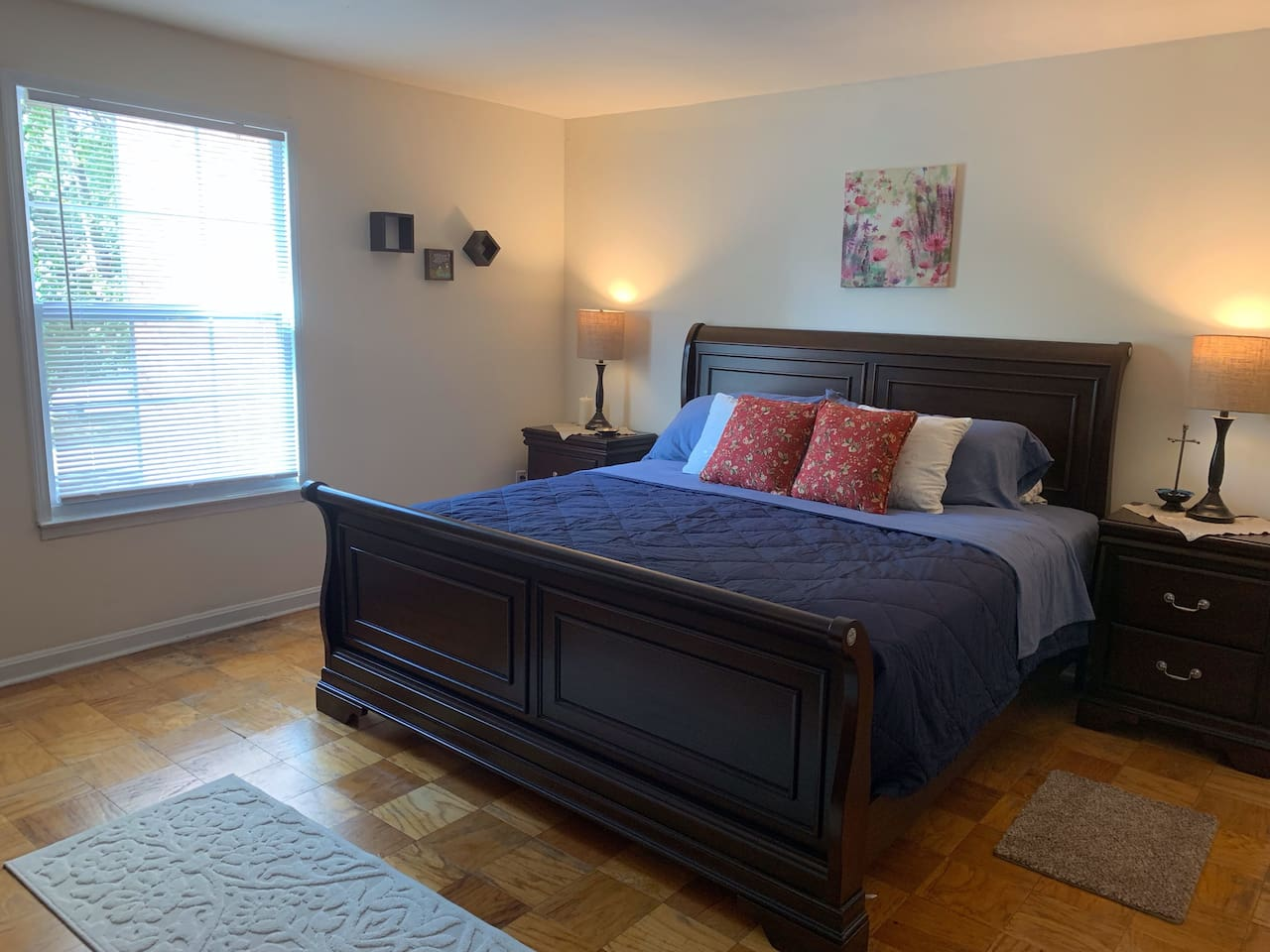 King-Size bed, full closet and dressers available