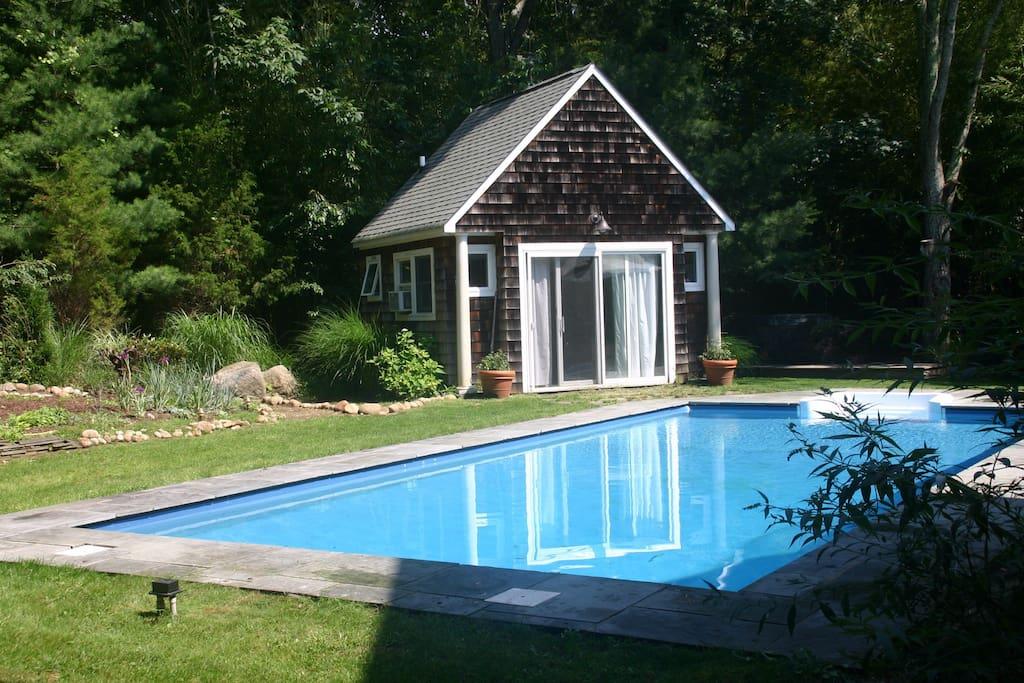 Generous heated swimming pool