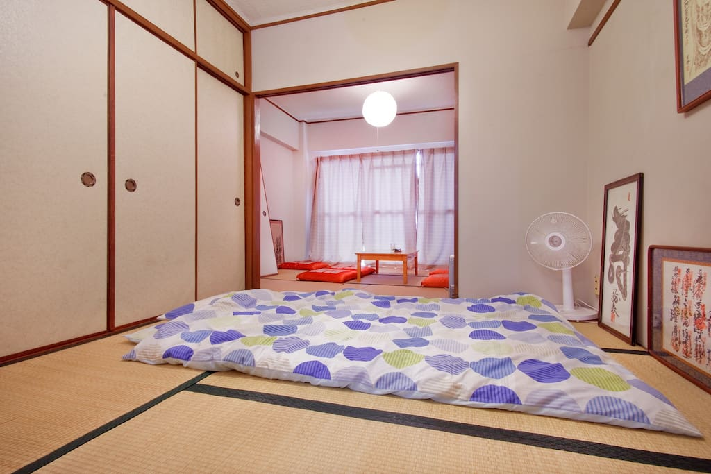 Japanese-style. Tatami & Futon.
