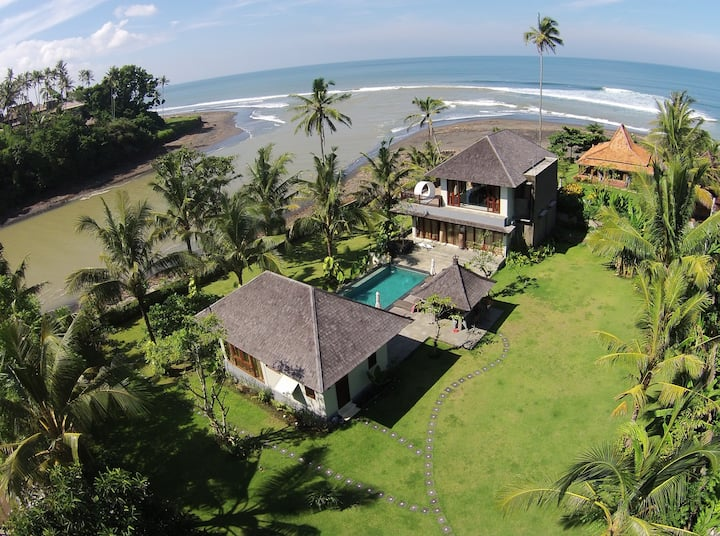 Luxury beach & river villa at Balian surf break