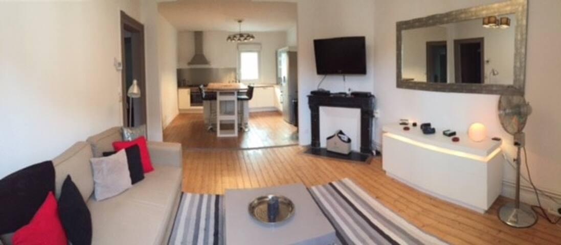 Appartement de charme spacieux et calme