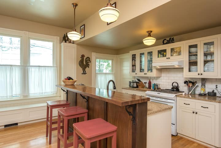 Close-in and cozy; permits, relaxed, dog-friendly
