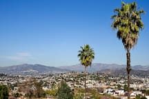 Breathtaking views of the Griffith Observatory, Los Angeles Crest Mountains and the foothills