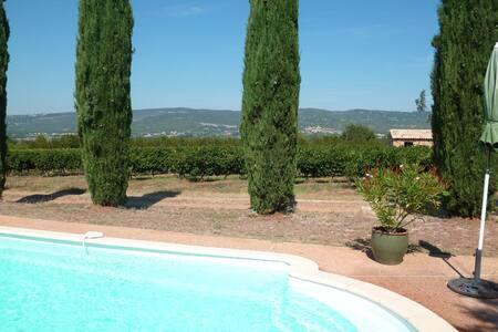 Gîte le Luberon avec piscine - Roussillon