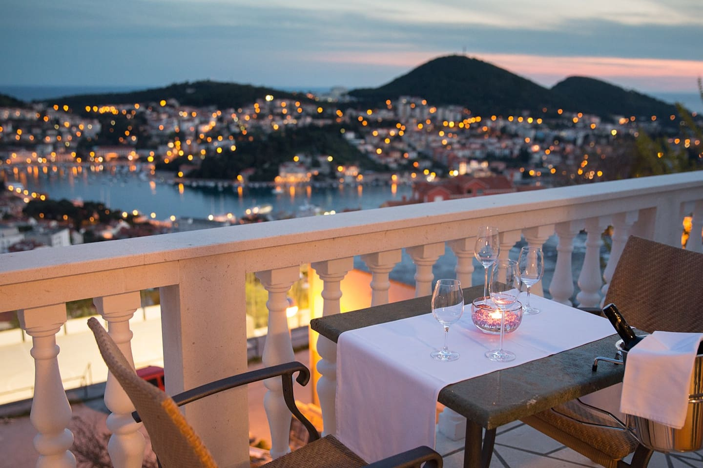 Care for a glass of wine while enjoying wonderful panoramic view?