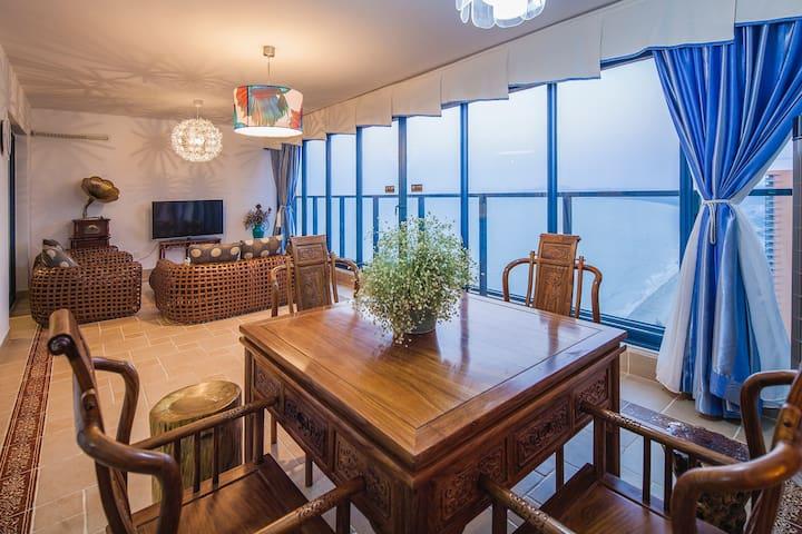 惠州双月湾地区离海最近的高层超豪华海景两房度假公寓32楼 - 惠州市 - Apartment