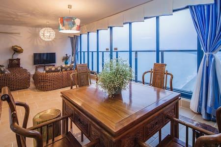 惠州双月湾地区离海最近的高层超豪华海景两房度假公寓 - 惠州市 - Huoneisto