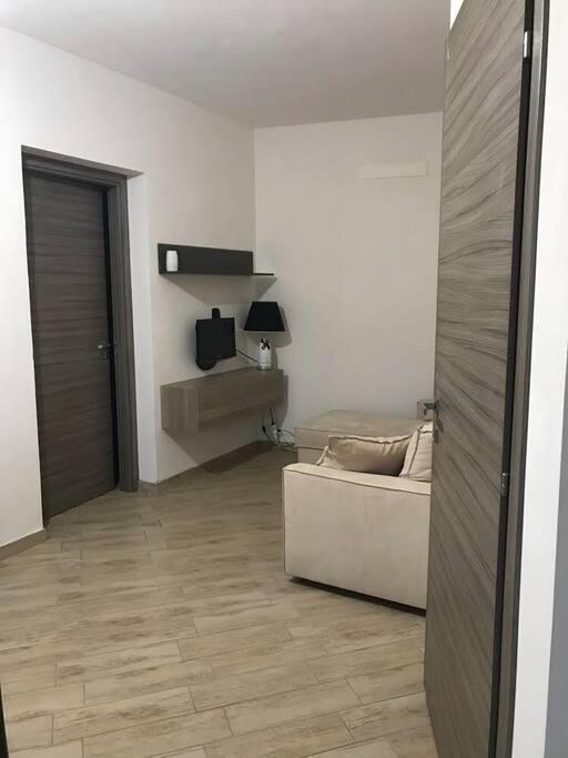 Cucina soggiorno con divano letto appartamento 3