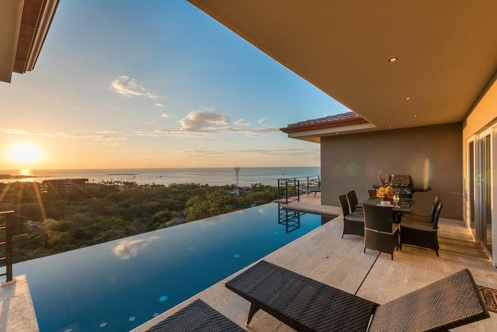 Amazing Newer 4 Bedroom Ocean View Luxury Home in Tamarindo, Sleeps 8