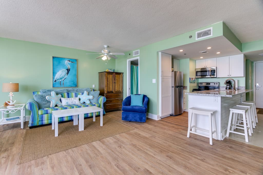 Open Floor Plan with new furnishing and decor.