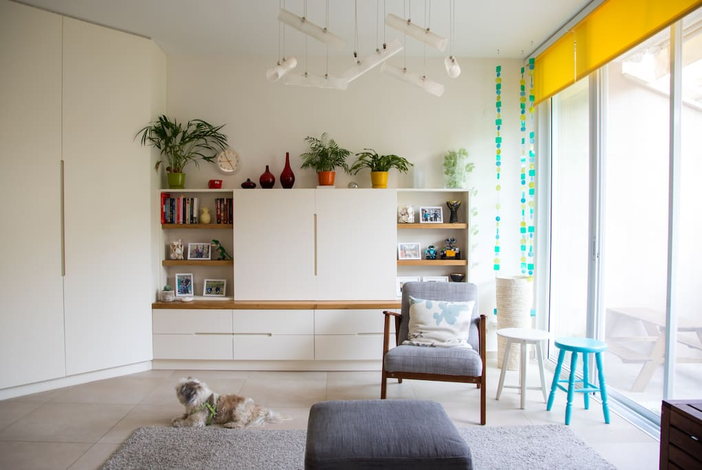 Living room - TV cabinet & some books for you to use