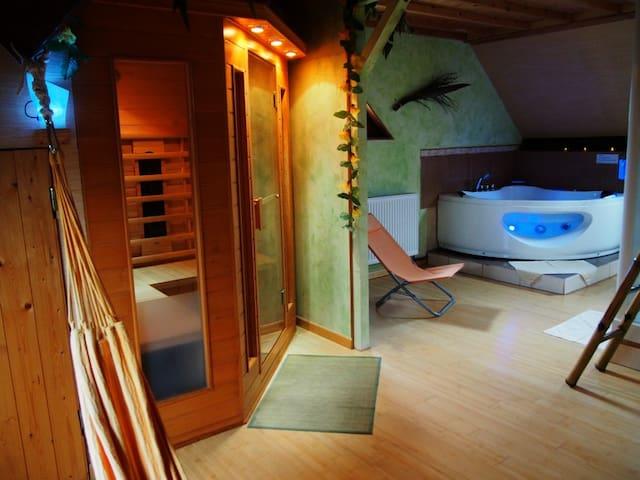 Bien-être à deux, sauna, spa