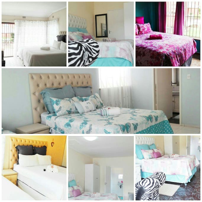 This photo shows the bedrooms