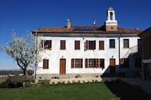 The house with the bell tower on the roof