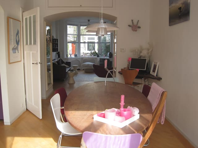 lovely, groundfloor, 5 min to beach - Den Haag - Casa