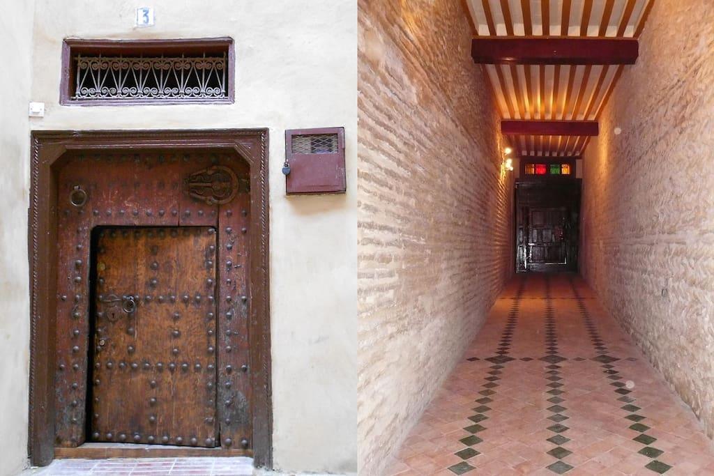 Porte d'entrée et couloir , 3 derb laabassa