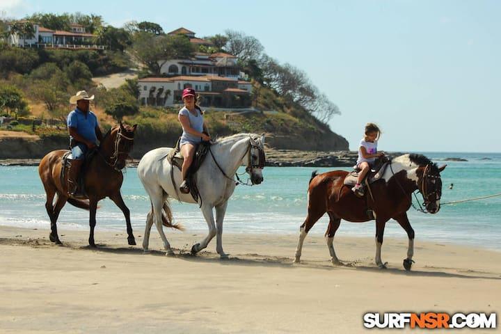 Go horseback riding with the whole family!