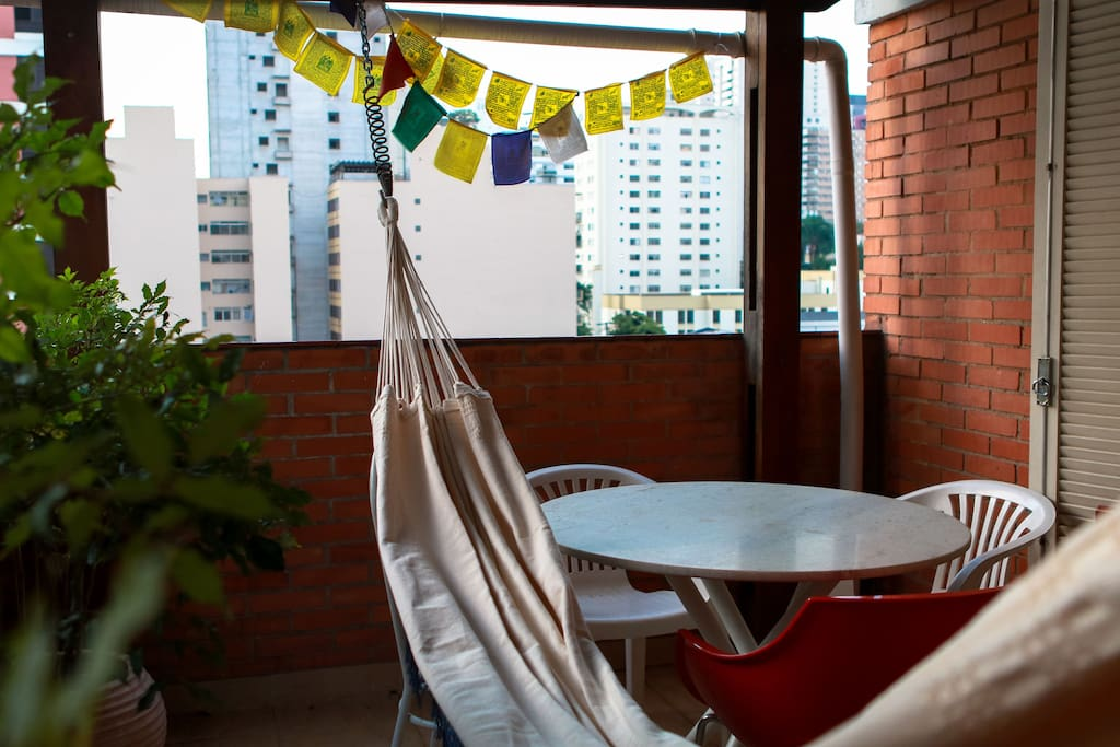 A lovely balcony to read a book or entertain friends