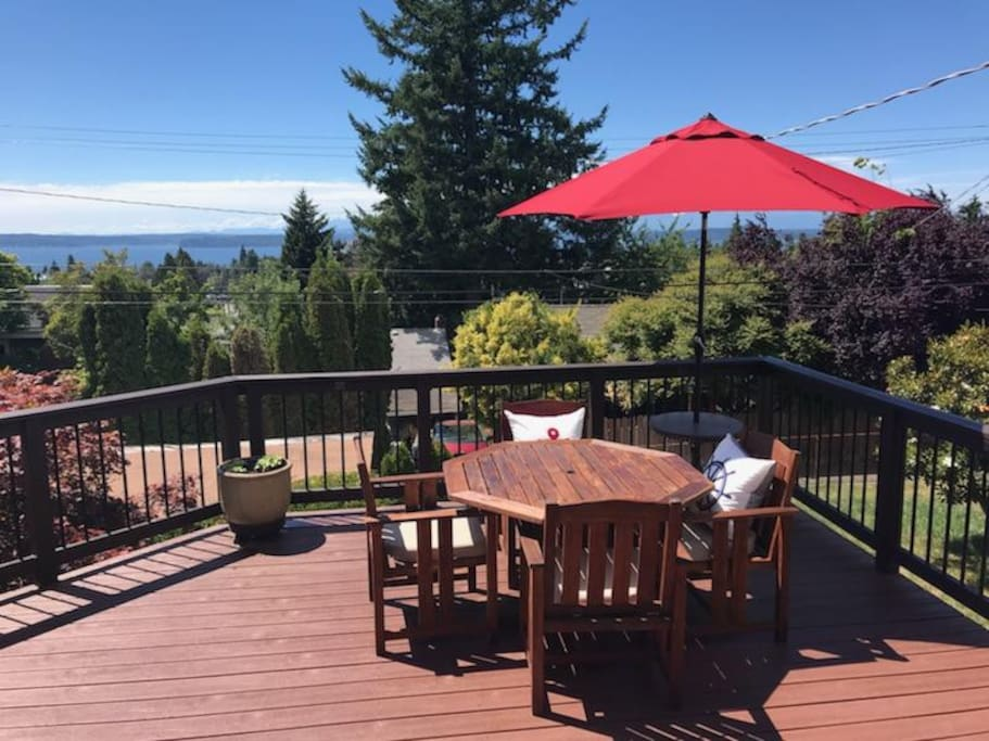 Spend afternoons on the deck, and enjoy the view!