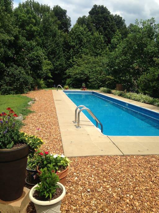 Pool 4 ft deep x 45 ft long