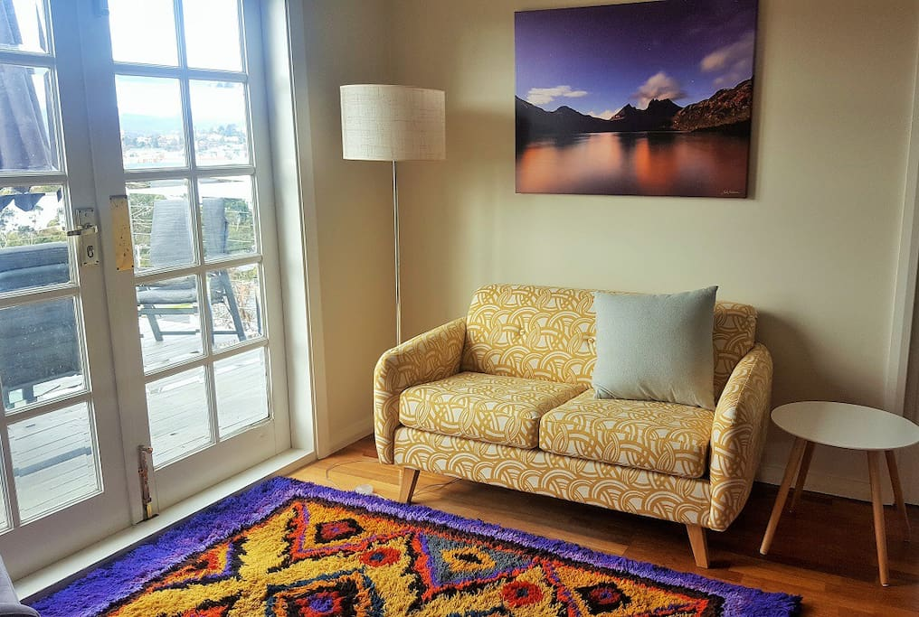 Bright comfortable family room