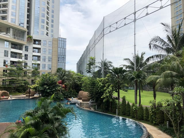 Facilities apartemen, swimming pool  with view golf @ ground floor