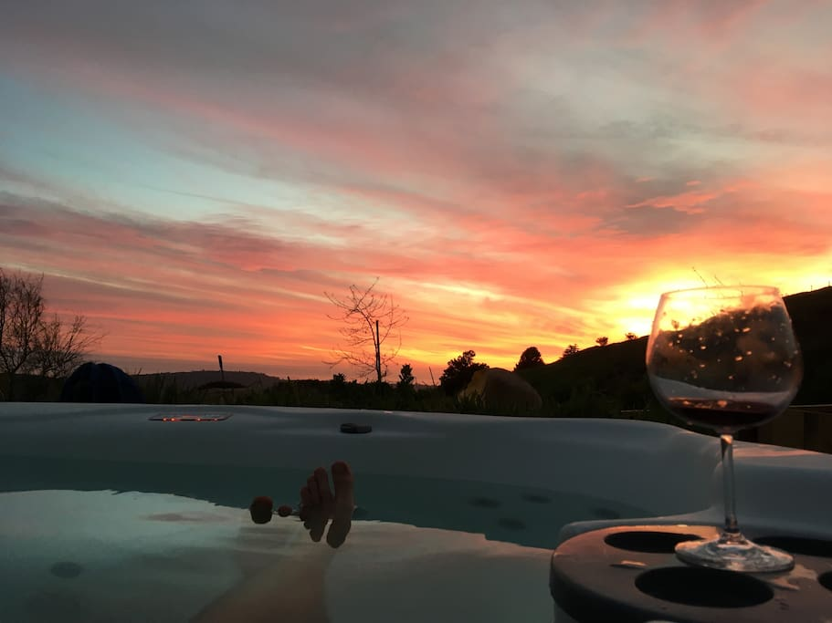 Sunset from the Hot Tub Jacuzzi