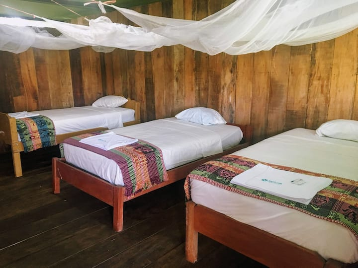 Triple room 2 in beautiful Selva Vida Lodge