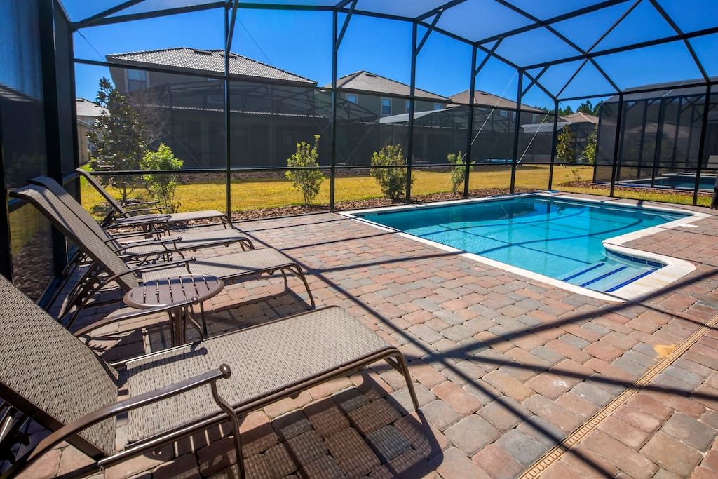 If you're ready to get a tan, this sun-soaked pool deck is the perfect place to gather in the ''rays'' and relax. When it gets too hot for you (and it will), take a cooling dip in the sparkling clear water of your private pool.