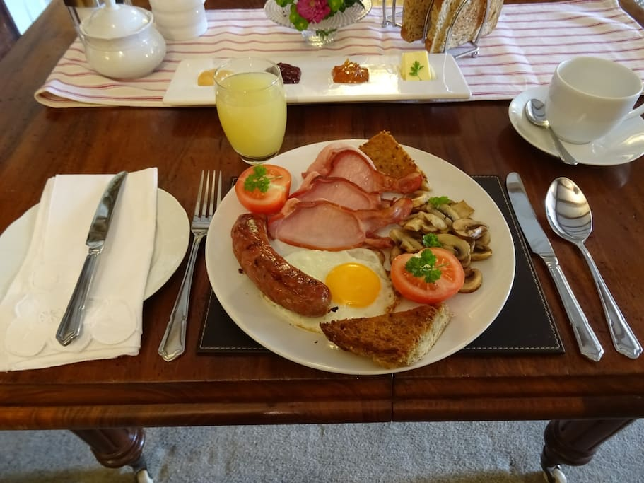 Our home cooked breakfast.