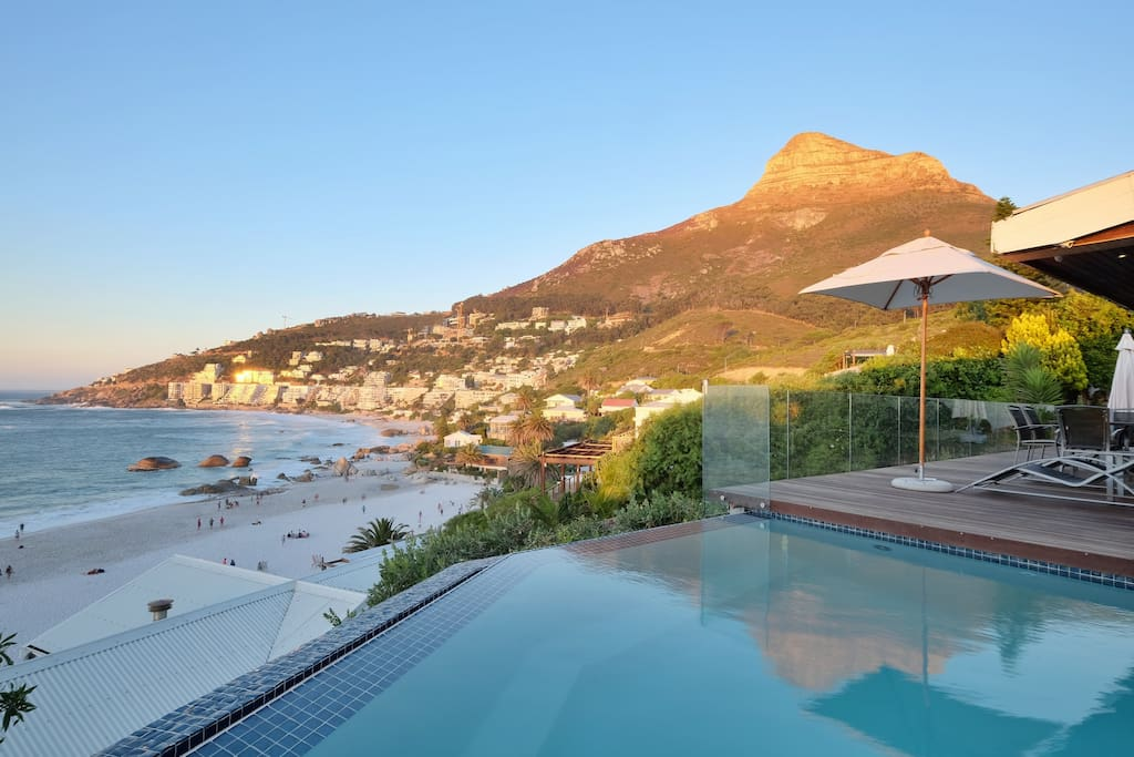 The Pool & View of beaches & Lions Head