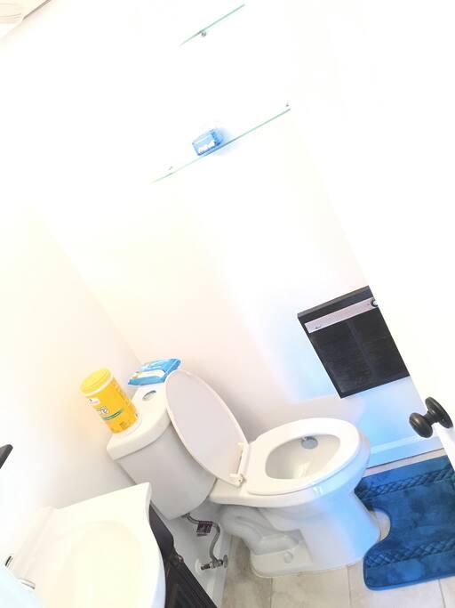 Ghost white bathroom