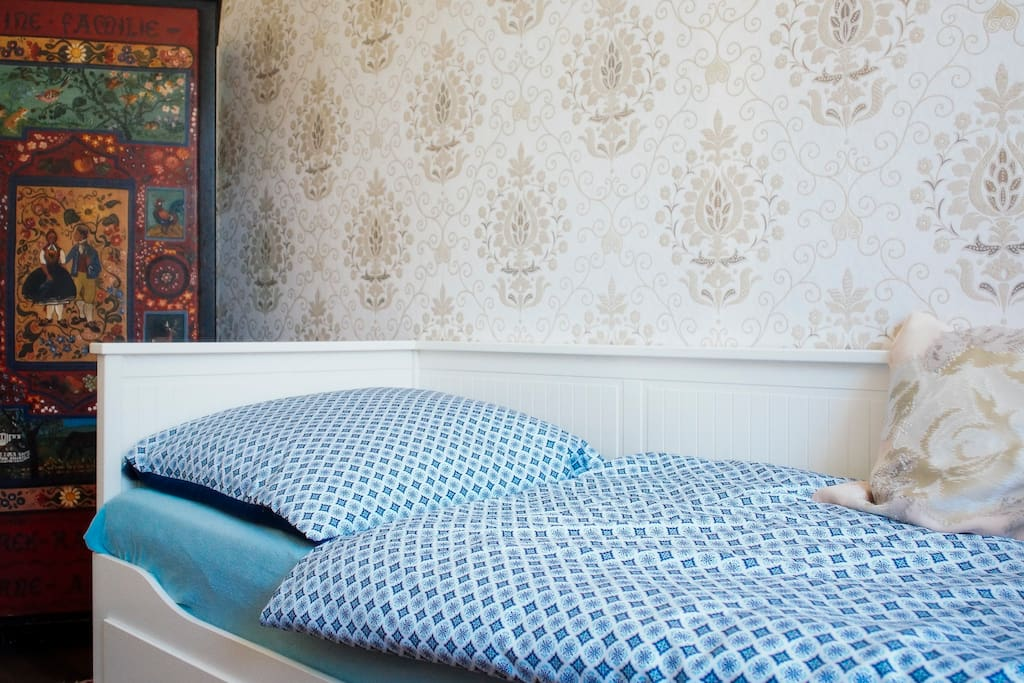 ... your bed is cosy and comfortable- if you need more space you can simply change it into a larger bed ...