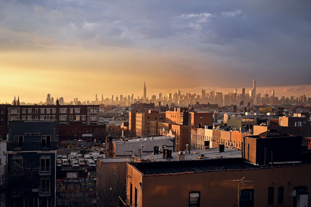 Manhattan Skyline View from our private Roof Deck. It's truly beautiful, any time of the day!