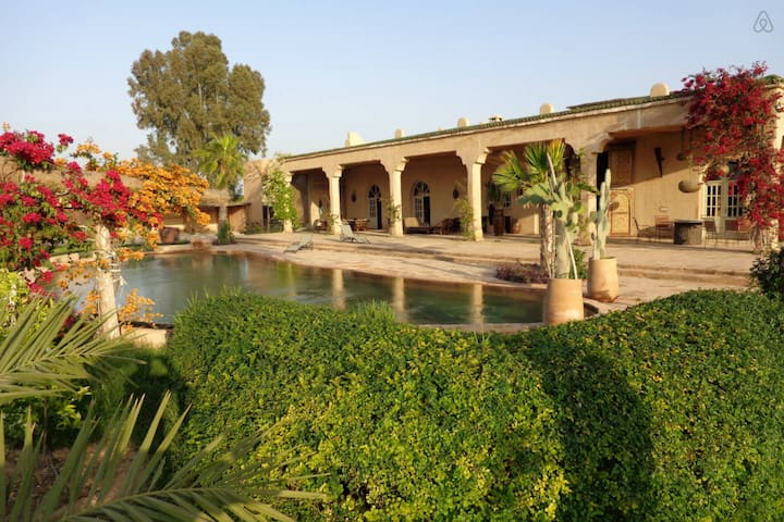 SUPERB BERBER PALACE surrounded of ATLAS MOUNTAINS