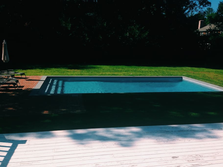 Salt water pool.