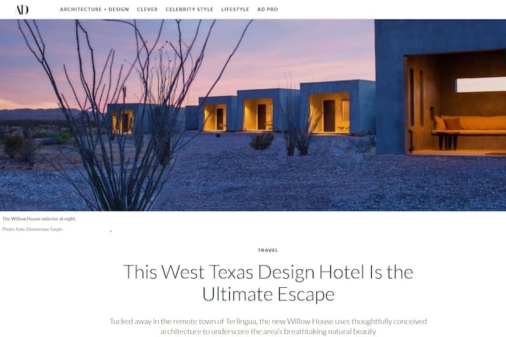 Willow House No. 3- Big Bend NP + Terlingua
