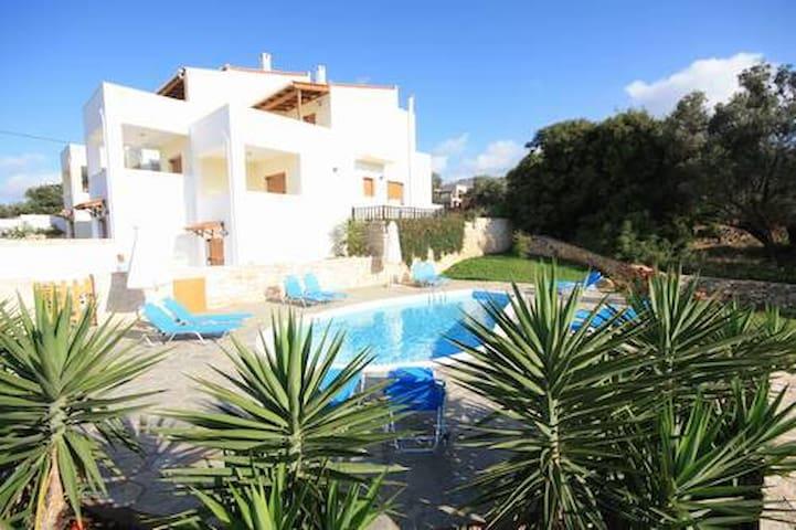 Exclusive Villa 2 mit Pool u.Meerbl - Rethymno/Roussospiti - 別荘