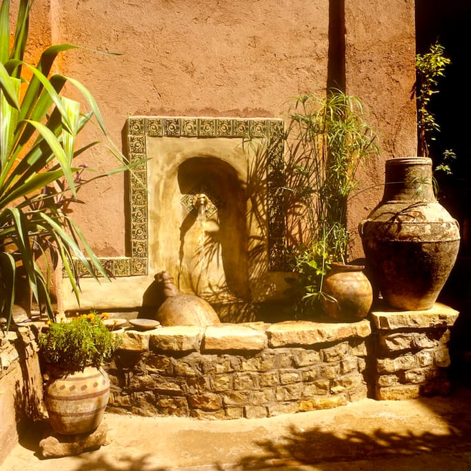 Décor du patio du Riad