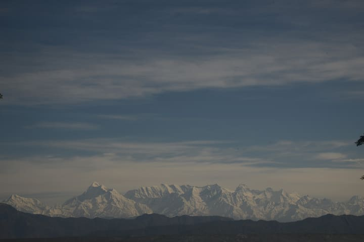 View up north from our home! Trishul & Nanda Devi