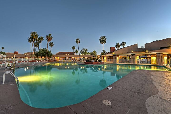 Enjoy access to this large community pool while staying at this home!